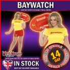 FANCY DRESS COSTUME # LADIES 80s BAYWATCH CASUAL FEMALE OUTFIT SM 8-10